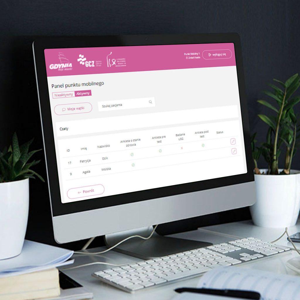 screen dotyczący System obsługi, aplikacja webowa